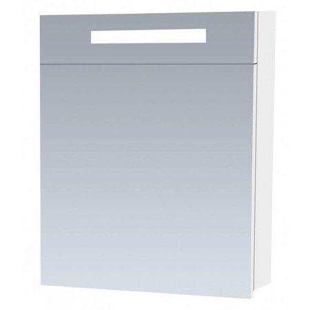 Samano Exclusive/New Future Spiegelkast   enkelzijdige spiegel   60 cm   hoogglans wit   1 deur   rechtsdraaiend   LED verlichting