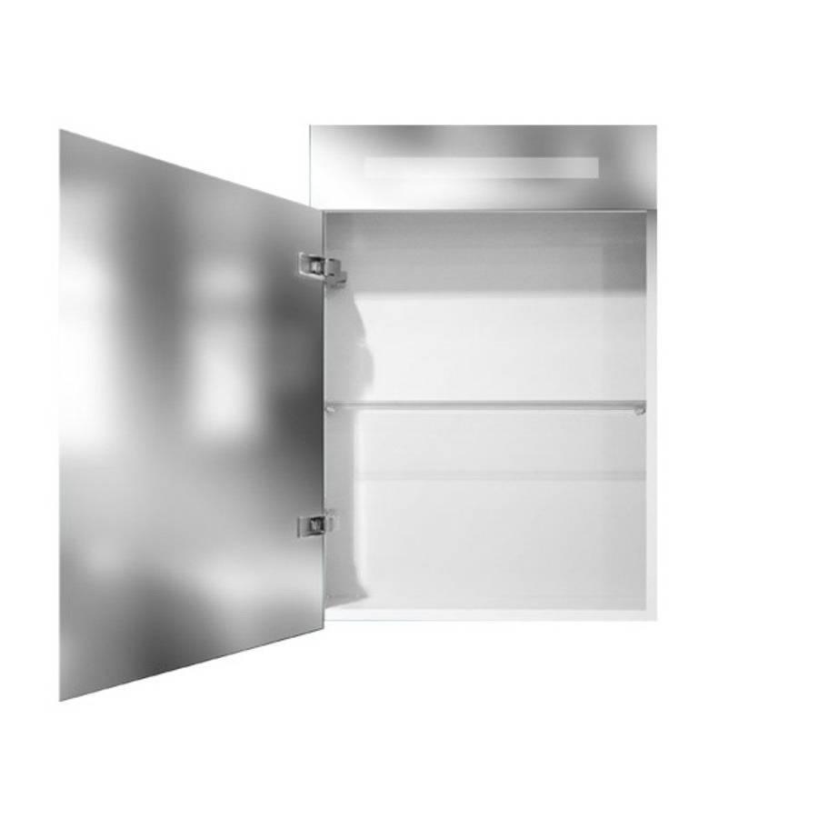 samano nexxt spiegelkast dubbelzijdige spiegel 60 cm mat wit 1 deur