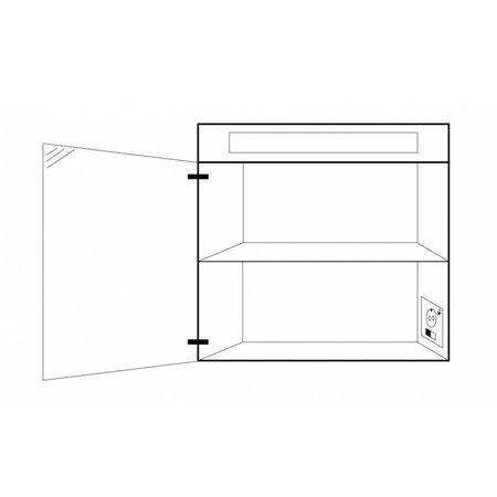 Samano Nexxt Spiegelkast | dubbelzijdige spiegel | 60 cm | mat wit | 1 deur | linksdraaiend | LED verlichting