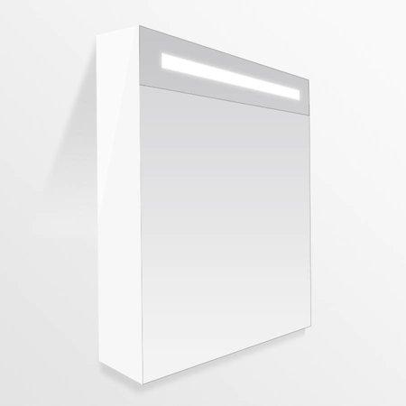 Samano Nexxt Spiegelkast   dubbelzijdige spiegel   60 cm   mat wit   1 deur   rechtsdraaiend   LED verlichting