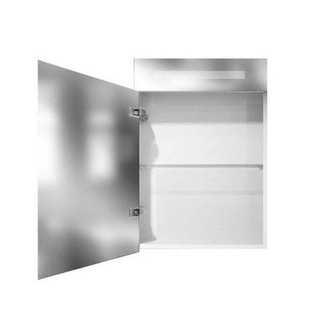 Samano Exclusive/New Future Spiegelkast | dubbelzijdige spiegel | 60 cm | hoogglans wit | 1 deur | rechtsdraaiend | LED verlichting