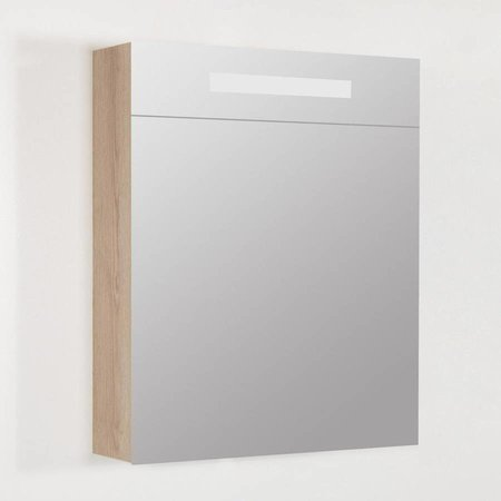 Samano Exclusive/NEXXT Spiegelkast | dubbelzijdige spiegel | 60 cm | legno calore | 1 deur | linksdraaiend | LED verlichting