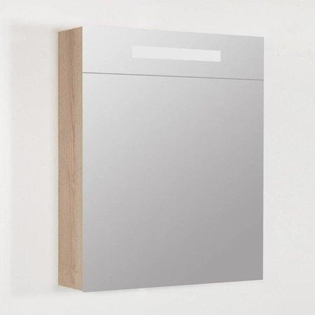 Samano Exclusive/NEXXT Spiegelkast | dubbelzijdige spiegel | 60 cm | legno calore | 1 deur | rechtsdraaiend | LED verlichting