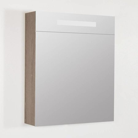 Samano Exclusive/NEXXT Spiegelkast | dubbelzijdige spiegel | 60 cm | legno viola | 1 deur | rechtsdraaiend | LED verlichting