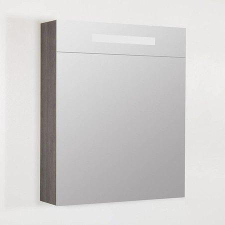 Samano Exclusive/NEXXT Spiegelkast | dubbelzijdige spiegel | 60 cm | antraciet | 1 deur | linksdraaiend | LED verlichting