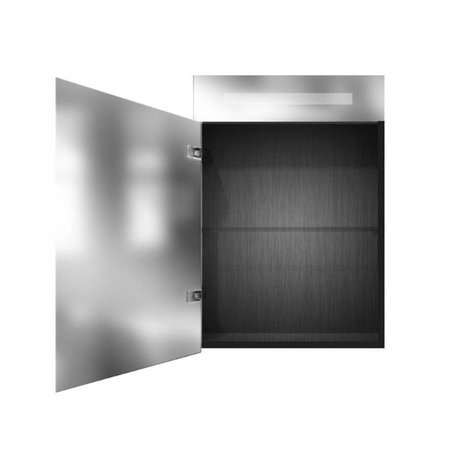 Samano Exclusive Spiegelkast | dubbelzijdige spiegel | 60 cm | zwart | 1 deur | linksdraaiend | LED verlichting
