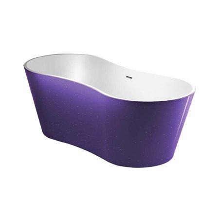 Best Design Best Design Vrijstaand Bad | Color-Purplecub | 174x77x58 cm | paars