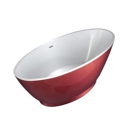Best Design Best Design Vrijstaand Bad | Color-Redpool | 178x78x61cm | rood
