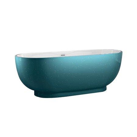 Best Design Best Design Vrijstaand Bad | Color-Turquoise | 179x81x61 cm | turquoise