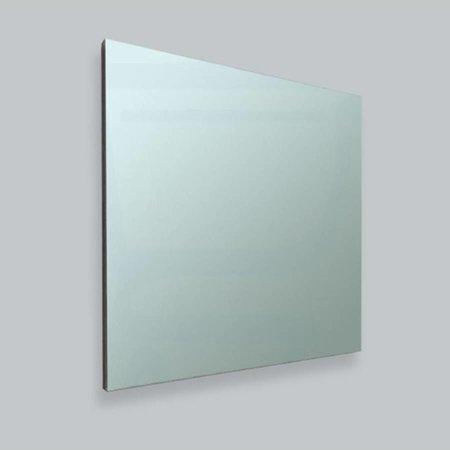 Samano Spiegel Alu | 60 cm | geborsteld aluminium zijden | rechthoek | zonder verlichting aluminium
