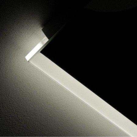Samano Spiegel Twinlight | 58x70 cm | rechthoek | met LED verlichting | geborsteld aluminium