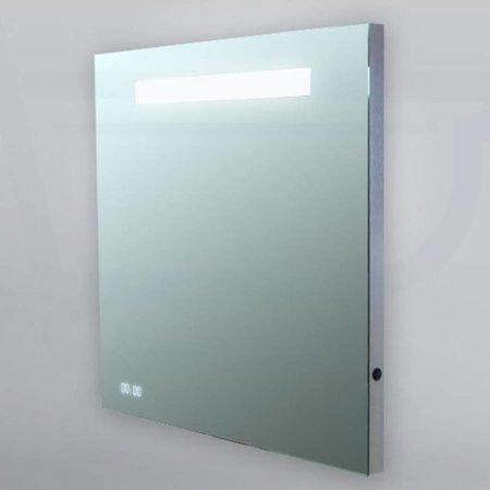 Samano Spiegel Exclusive Line Clock | 60x70 cm | rechthoek | met klok | met verlichting