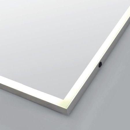 Samano Spiegel Edge | 80 cm | rechthoek | aluminium | met LED verlichting