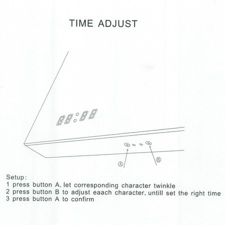 Samano Spiegel Exclusive Line Clock | 80x70 cm | rechthoek | aluminium | met LED verlichting