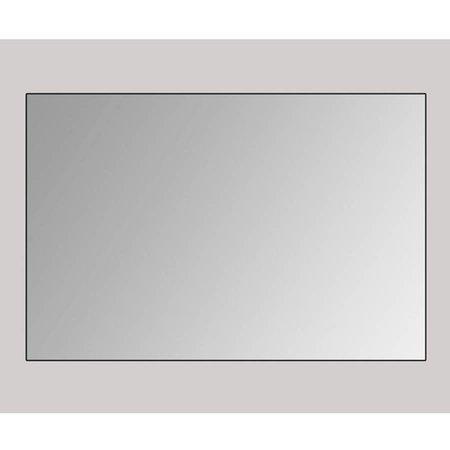 Samano Spiegel Alu | 100 cm | rechthoek | aluminium | zonder verlichting