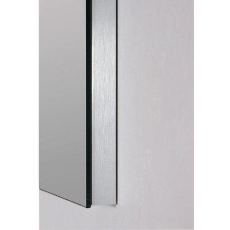 Samano Spiegel Alu   100 cm   rechthoek   aluminium   zonder verlichting
