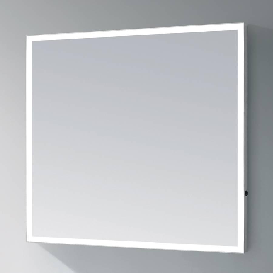 samano spiegel edge 100 cm rechthoek aluminium met led verlichting