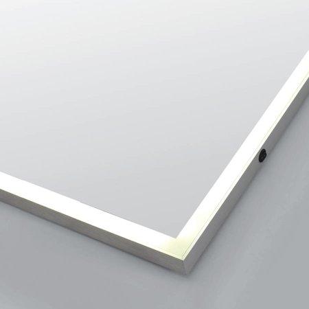Samano Spiegel Edge | 100 cm | rechthoek | aluminium | met LED verlichting