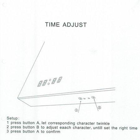 Samano Spiegel Exclusive Line Clock | 100x70 cm | rechthoek | aluminium | met LED verlichting
