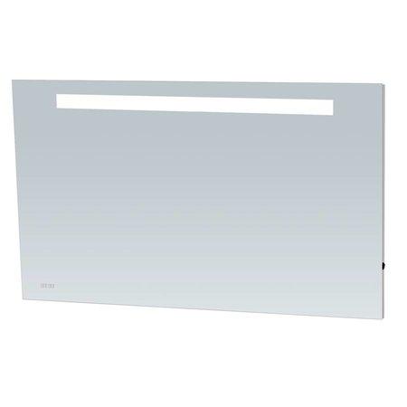 Samano Spiegel Exclusive Line Clock | 120x70 cm | rechthoek | aluminium | met LED verlichting