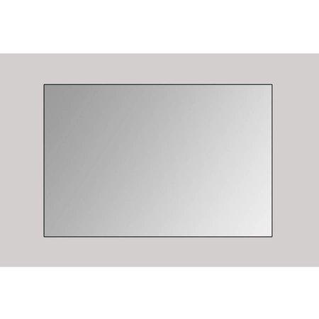 Samano Spiegel Alu | 160 cm | rechthoek | aluminium | zonder verlichting