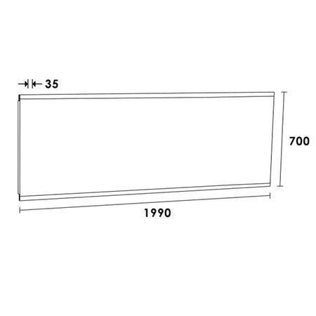 Samano Spiegel Twinlight | 180x70 cm | rechthoek | aluminium | met LED verlichting