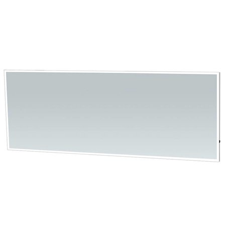 Samano Spiegel Edge | 180 cm | rechthoek | aluminium | met LED verlichting