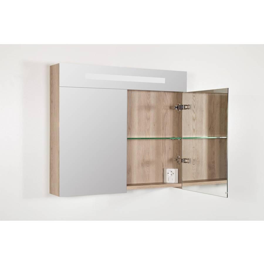 Spiegelkast | dubbelzijdige spiegel | 80 cm | legno calore | 2 ...