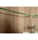 Samano Spiegelkast | dubbelzijdige spiegel | 80 cm | legno calore | 2 deuren | LED verlichting