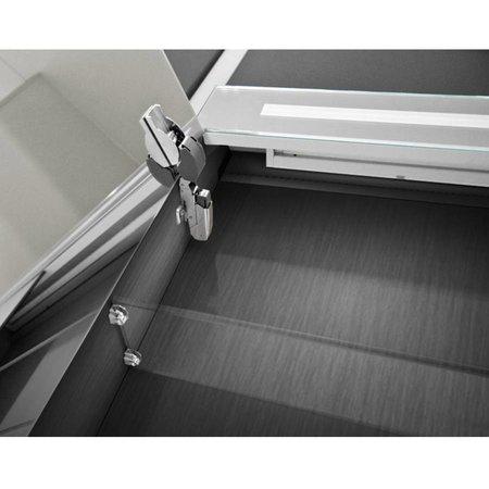 Samano Spiegelkast | dubbelzijdige spiegel | 80 cm | zwart | 2 deuren | LED verlichting