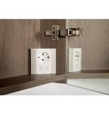 Samano 2.0 Spiegelkast | enkelzijdige spiegel | 80 cm | legno viola | 2 deuren | LED verlichting