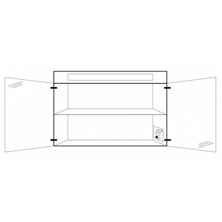 Samano Spiegelkast | dubbelzijdige spiegel | 100 cm | wit | 2 deuren | LED verlichting