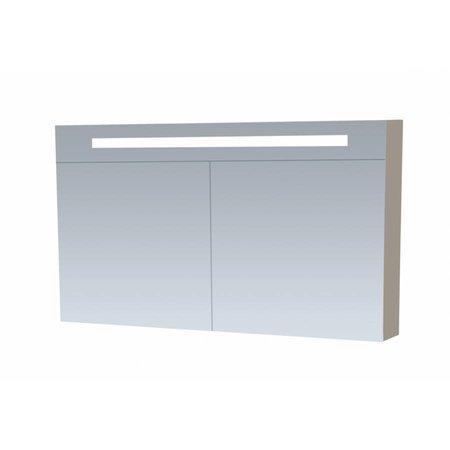 Samano Spiegelkast | dubbelzijdige spiegel | 100 cm | taupe | 2 deuren | LED verlichting