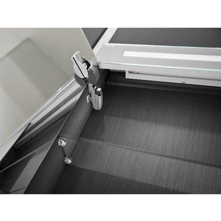 Samano Spiegelkast | dubbelzijdige spiegel | 100 cm | zwart | 2 deuren | LED verlichting