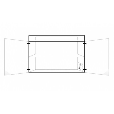 Samano 2.0 Spiegelkast | enkelzijdige spiegel | 120 cm | Hoogglans wit | 2 deuren | LED verlichting