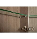Samano Spiegelkast | dubbelzijdige spiegel | 120 cm | legno viola | 2 deuren | LED verlichting