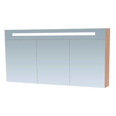Samano Spiegelkast | dubbelzijdige spiegel | 140 cm | legno calore | 3 deuren | LED verlichting
