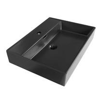 Wastafelblad Legend 60 cm | mat zwart | 1 kraangat
