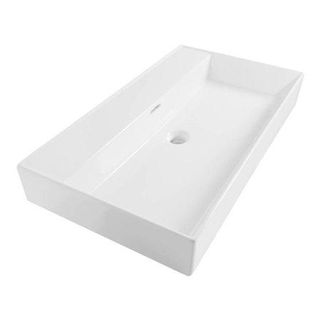 Samano Wastafelblad Legend 80 cm | wit | geen kraangaten
