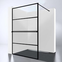 Best-Design Douchewand | Noire 1200 screen | Inloopdouche 120 x 200 cm