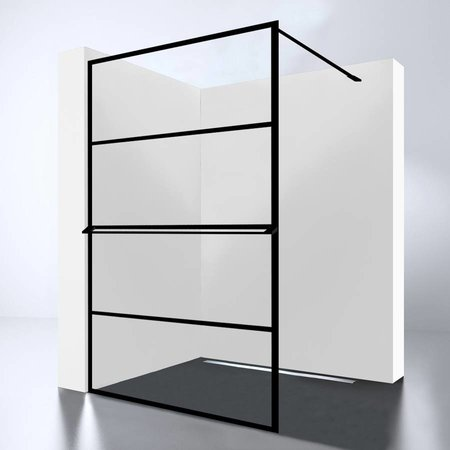 Best Design Best-Design Douchewand | Noire 1200 screen | Inloopdouche 120 x 200 cm