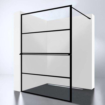 Best Design Best-Design Douchewand | Noire 1400 screen | Inloopdouche 140 x 200 cm