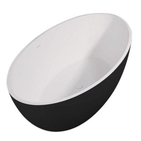 Best Design Best-Design Bad | New-Stone | vrijstaand bad | Zwart/Wit