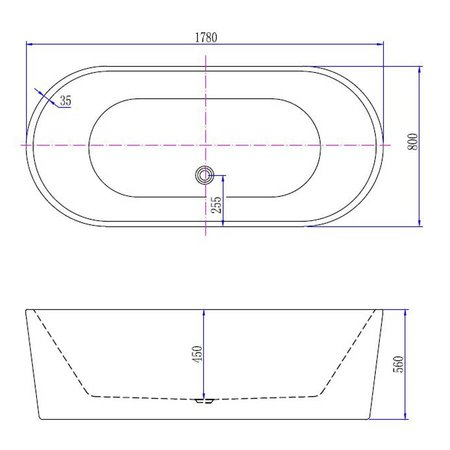 Best Design Best-Design Bad Becoma | Mat-Wit | Vrijstaand bad | 178x80x55cm