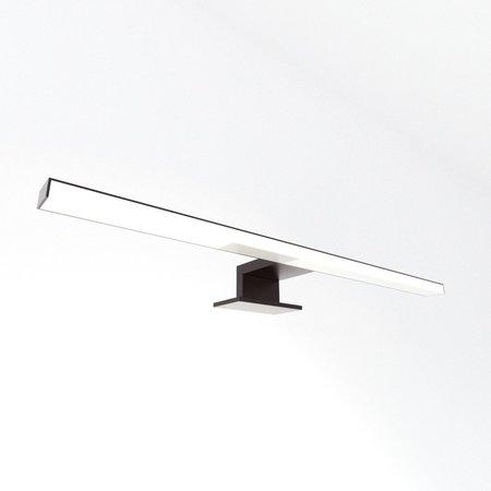 Samano Opbouwverlichting LED 30cm voor spiegel aluminium mat zwart