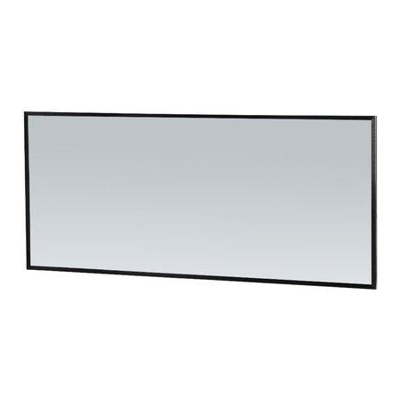 Samano Silhouette 160 spiegel 160x70cm zwart aluminium