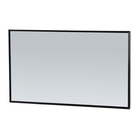 Samano Silhouette 120 spiegel 118x70cm zwart aluminium