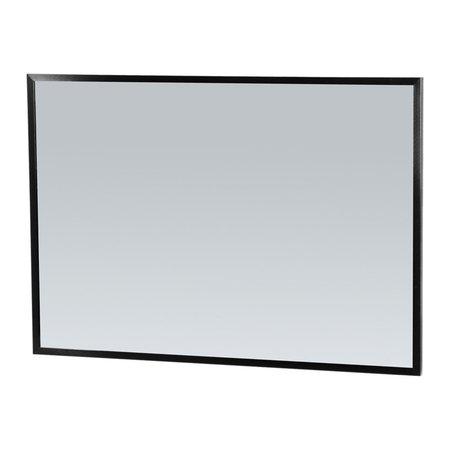 Samano Silhouette 100 spiegel 99x70cm zwart aluminium
