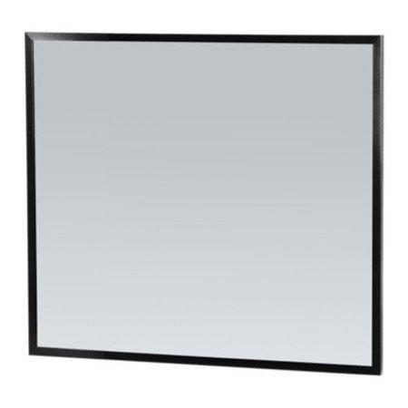 Samano Silhouette 80 spiegel 80x70cm zwart aluminium