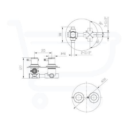 Brauer Inbouwset type D